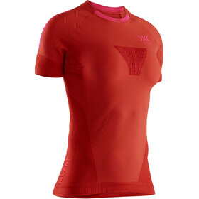 X-Bionic Invent 4.0 Run Speed Hardloop T-shirt Dames, sunset orange/neon flamingo